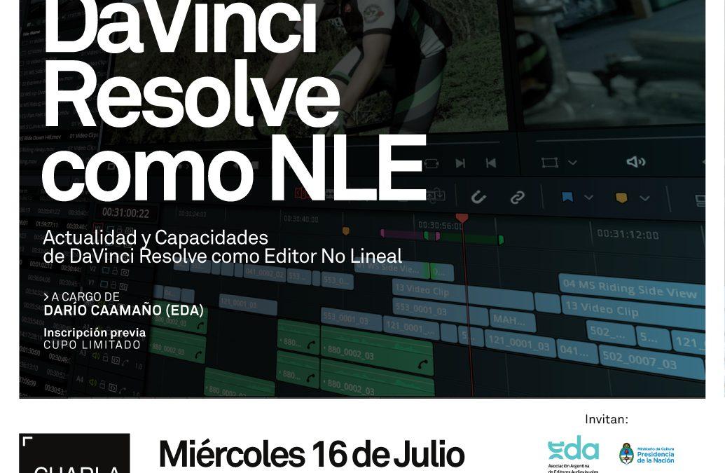 Charla: DaVinci Resolve como Editor No Lineal (NLE)