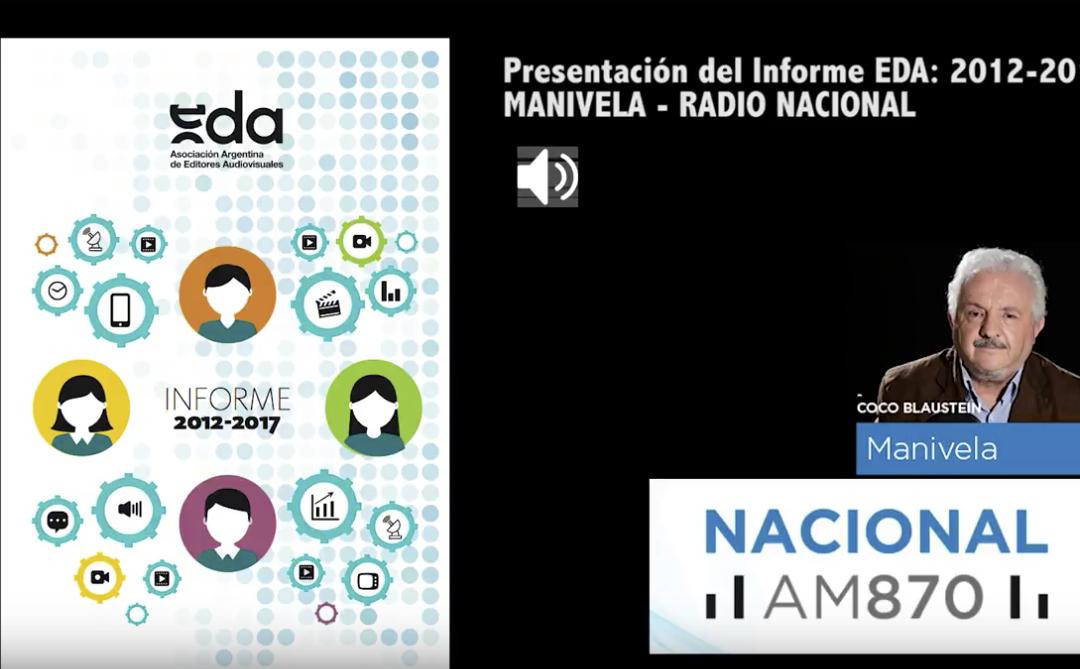 EDA en Radio Nacional presentando el «Informe 2012-2017»